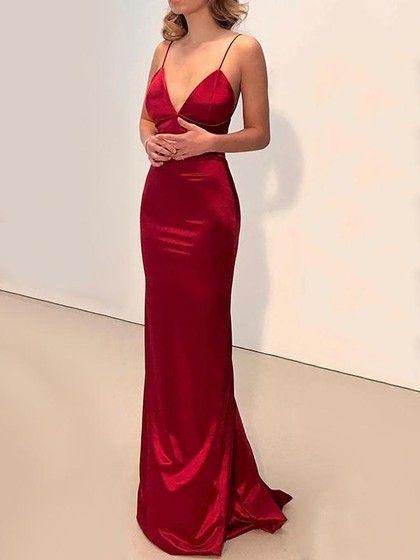 silk prom dress