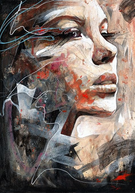 """beautifulbizarremag: """"""""His stylized layers of messy paint and sinuous diagonals achieve diverse contrasts and imaginative depths of field. From conception to completion, the implementation of his..."""