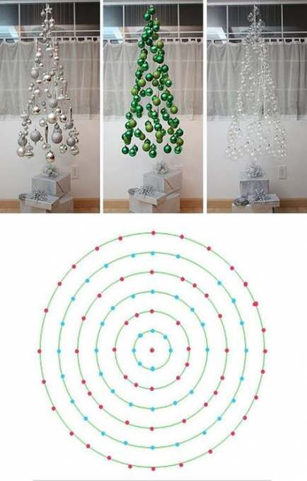 Floating Christmas Tree Diy 52 Ideas Diy Tree Diy Christmas Tree Christmas Diy Hanging Christmas Tree