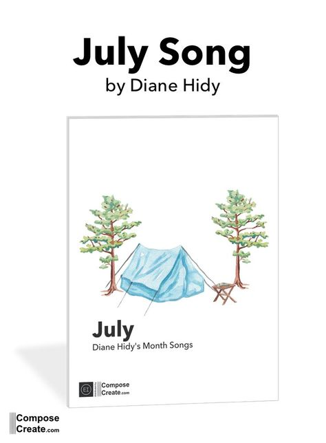 What does July sound like? (It's not patriotic, I promise). Diane Hidy captures the energetic summer sound on the piano beautifully. #piano #music #diane #hidy #composecreate #summer #july #month #song #intermediate #easy