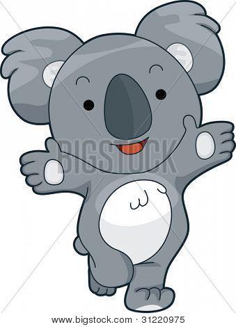Illustration Of A Friendly Koala Offering A Hug Poster Id 31220975 Cute Animal Clipart Koala Animal Clipart