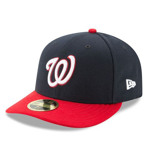 17b1d2ebef9 Washington Nationals New Era Alternate Authentic Collection On-Field Low  Profile 59FIFTY Fitted Hat - Navy Red