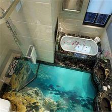 Superb Beibehang 3d Bodenbelag Wandbilder Benutzerdefinierte Fototapete Meer Welt  Wirklich 3D Boden Tapete Badezimmer Selbstklebende PVC