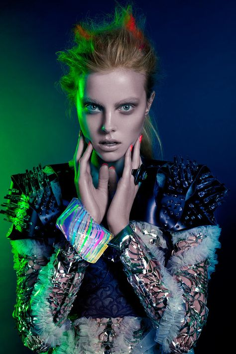 EDITORIAL II   MONICA CHAMORRO RETOUCHER (insp. coloured light on side of face - just a touch)