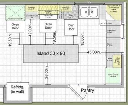 Kitchen Plan Layout Measurements 53 Super Ideas Kitchen Best