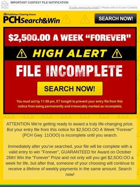 Publishers Clearing House Number