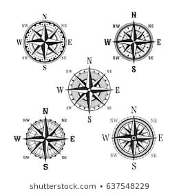 Similar Images, Stock Photos & Vectors of Vector antique compasses with ornate dials for use as design elements in vintage or retro nautical and marine concepts, black and white - 226258699 | Shutterstock