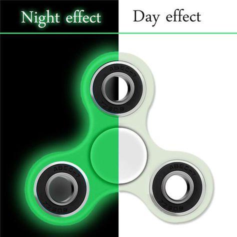 Tri Spinner Fidget Toy Flashing Light UP Hand Finger Stress Luminous Torqbar