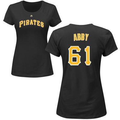 Womens Pittsburgh Pirates Majestic Black Custom Roster Name Number