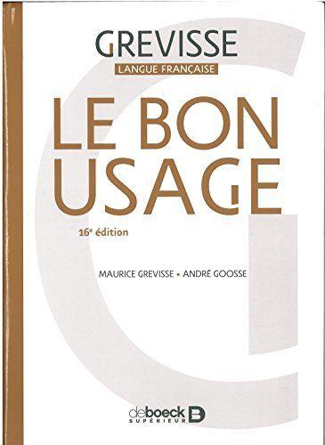 TÉLÉCHARGER LE BON USAGE DE MAURICE GREVISSE