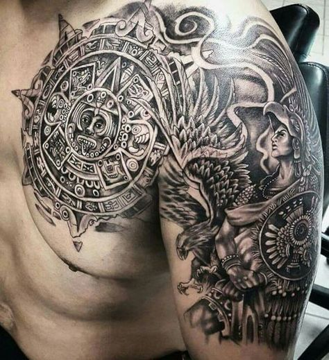 Aztec tattoo meaning, symbols and design ideas for men
