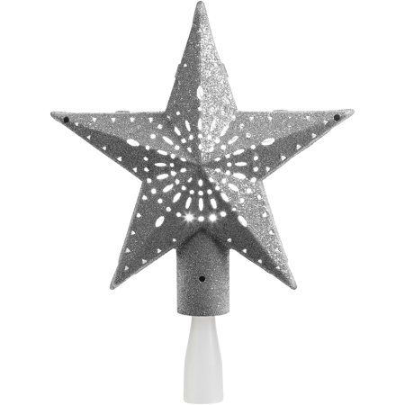 Holiday Time Mini White Tree Topper for Christmas Trees
