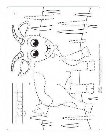 Farm Animals Tracing Coloring Pages Itsy Bitsy Fun Farm Animal Coloring Pages Animal Coloring Pages Farm Preschool