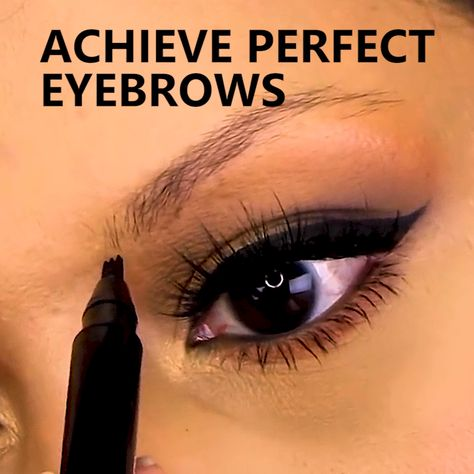 Stylish waterproof micro-blading liquid eyebrow pen is the new sensation and makes life a little easy for every woman out there. The pen gives you a perfectly clean look just in a few strokes. The stylish pen has four tip applicators to get the perfect shape.