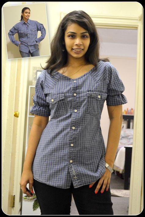 DIY Men's Shirt Refashion