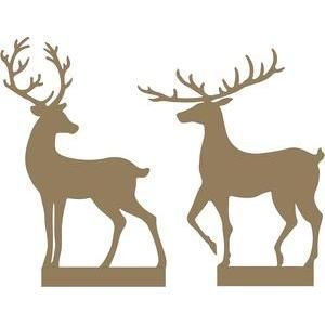 Silhouette Design Store - View Design #103444: christmas village - deer