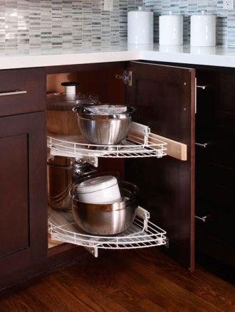 70 Inspiring Corner Kitchen Cabinet Storage Ideas Roundecor Corner Kitchen Cabinet Kitchen Cabinet Storage Small Kitchen Storage