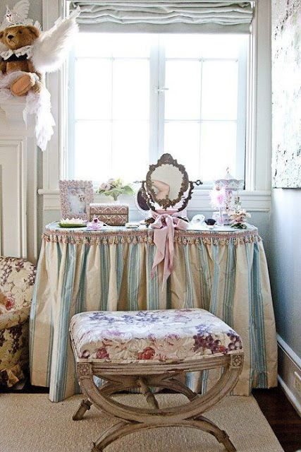Decorating With Skirted Dressing Tables Table