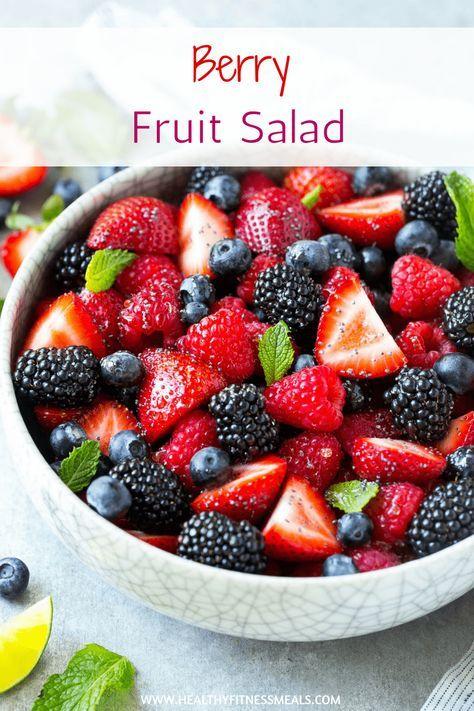 Mixed Berry Fruit Salad Recipe Berry Fruit Salad Fruit Salad Recipes Berry Salad