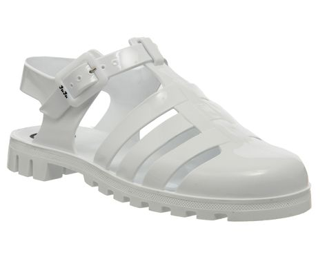 7cf74e1e2b04 JuJu Maxi Low Juju Jelly White - Sandals | Shoes | Jelly shoes ...
