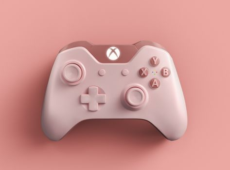 PLAY PROJECT - XBOX PINK CONTROLLER by Niklas Wahlberg Xbox Accessories, Nintendo Switch Accessories, Custom Xbox One Controller, Xbox Controller, Consoles, Kawaii Games, Pink Games, Nerd Decor, Bedroom Setup