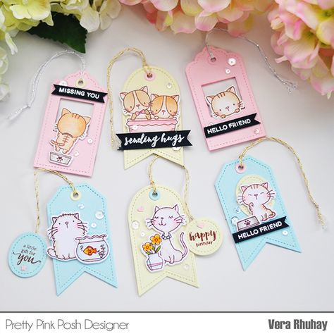 moccavanila by vera rhuhay: Cool Cat Tags with Pretty Pink Posh