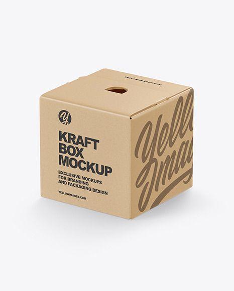 Download Kraft Paper Box Mockup In Box Mockups On Yellow Images Object Mockups Box Mockup Paper Box Kraft Box Packaging
