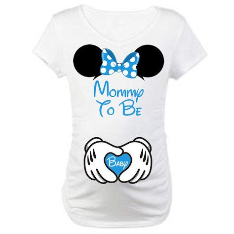 acadf96e3be59 Printable Mommy and Baby Maternity Pregnancy Mommy To Be Mickey Hands Minnie  Ears DIY Disney Shirts