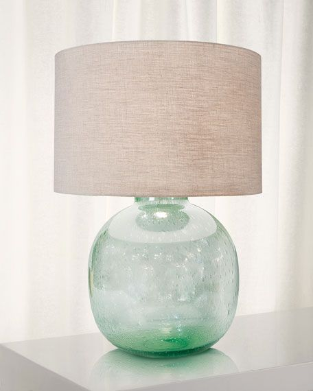 Regina Andrew Seeded Recycled Glass Table Lamp Glass Table Lamp Seeded Glass Glass Table
