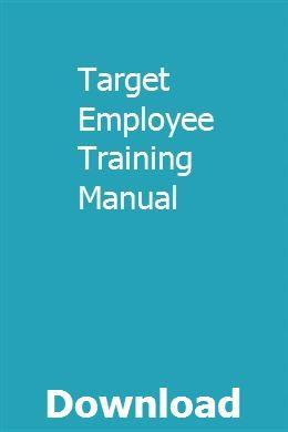 Target Employee Training Manual | vestwirpaige | Target