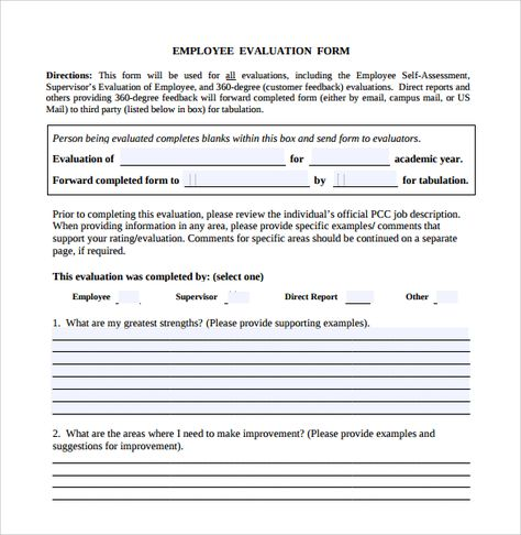 Download Employee Evaluation Form Forms  Employee Termination Form Template Free