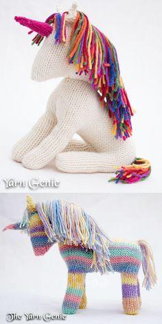"Crochet Unicorn Pattern DK Approx 6"" Tall 60"