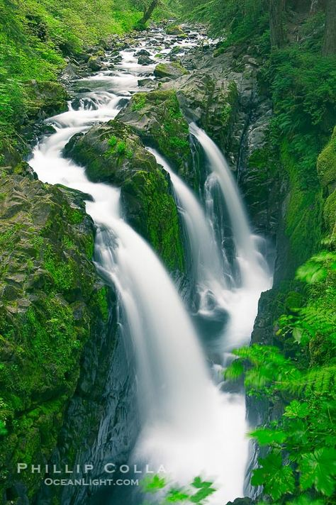 Sol Duc Falls. Sol Duc Falls is one of the largest and most beautiful waterfalls in Olympic National Park,