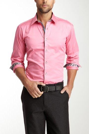 Men's Pink Dress Shirt NWT | Pink dress, Arrow shirts and Pink ...