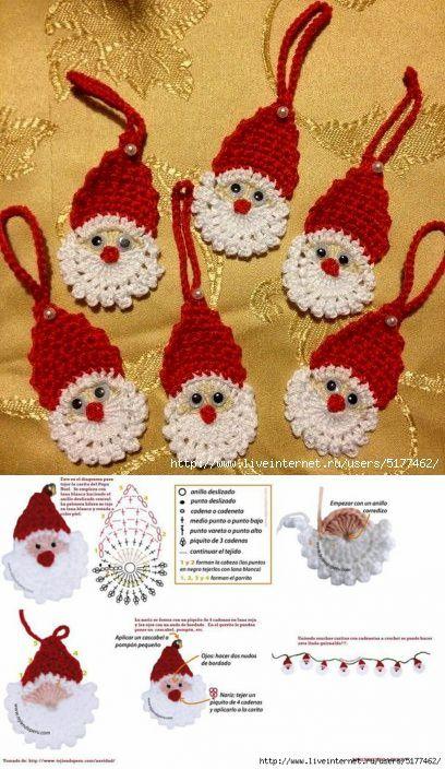 Сантик на елку крючком... | Новогодние,рождественские поделки и идеи. | Постила