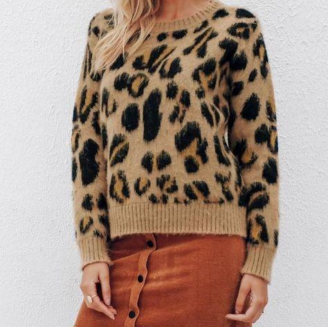 67745c9a1658 Yvonne Brushed Leopard Print Jumper. #sweater #jumper #cardigan #cozy  #winter