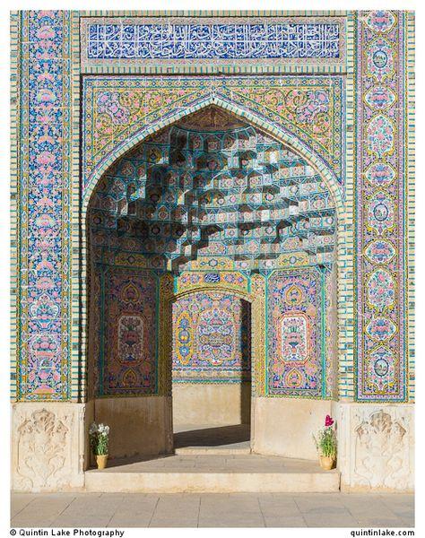 Nasir al-Mulk Mosque, (aka the Pink Mosque) Shiraz, Iran. Photo: Quintin Lake