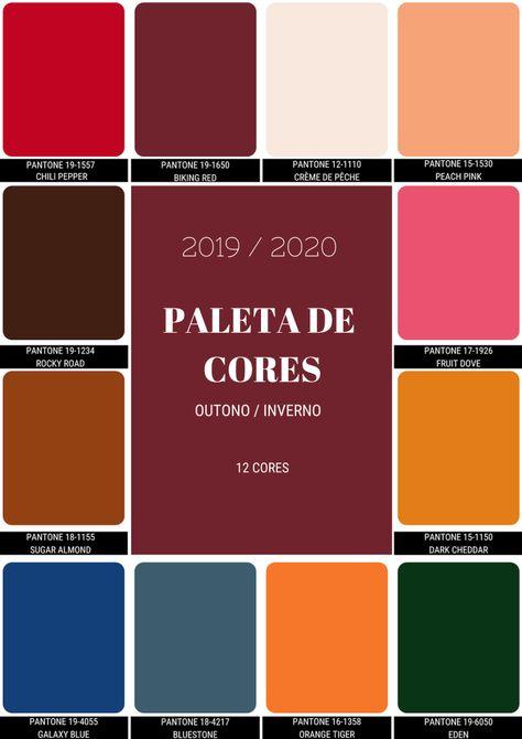 Tendências de Cores Outono/Inverno 2019/2020 #pantone2020 Pantone apresentou o Relatório de Tendências Outono / Inverno 2019/2020.