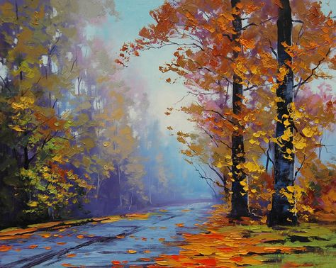 Autumn Forest Road By Artsaus Deviantart Com On Deviantart