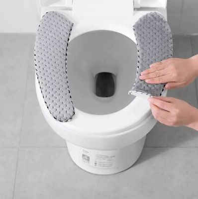 Advertisement Winter Thick Toilet Seat Cover Velvet Cushion Wc Stickers Toile Cover Velvet Cushions Toilet Mat Cushions