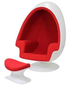 Eero Aarnio Alpha Shell Egg Chair E Ottoman Chair Ottoman Egg