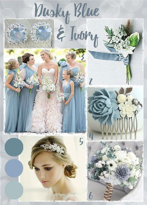 Dusky Blue and Ivory Wedding Ideas and Inspiration.