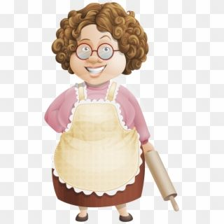 Grandmother Clipart Grandma Spanish Old Lady With Brown Hair Cartoon Hd Png Download Brown Hair Cartoon Old Women Clip Art