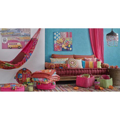 Tapis Tresse En Coton Multicolore 140 X 200 Cm Decoracion De Unas Cojines De Colores Salas De Estar Luminosas