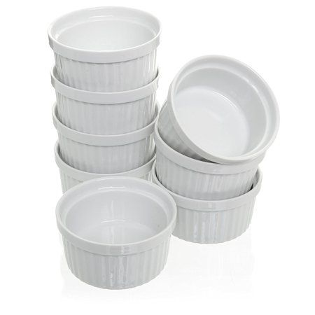 Porcelain White Ramekins Set Souffle Creme Brulee 4 Oz Set Of 8 Walmart Com Ramekins Baking Dish Set Ramekin Dishes