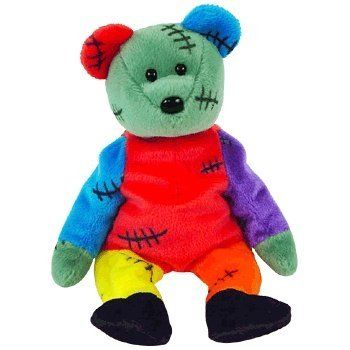 TY Beanie Baby - FRANKENTEDDY Bear~ great halloween one! glad is part of my collection!