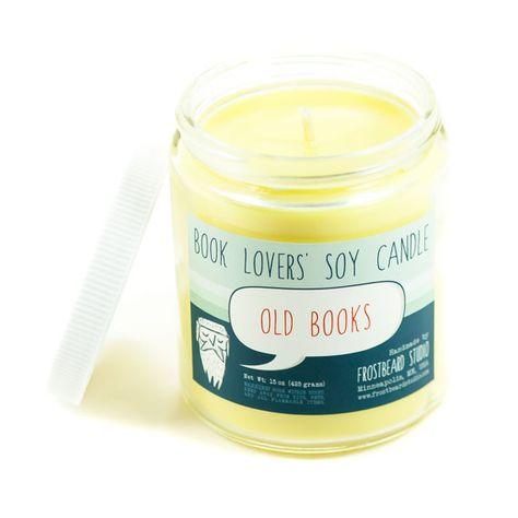 Alte Bücher Soja-Kerze Buch-Liebhaber Soja von Frostbeard auf Etsy