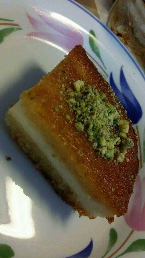 طريقة عمل بسبوسة بالقشطة Arabic Dessert Food Desserts