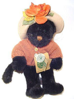Vintage Boyds Bears Black Halloween Kitty Cat  $19.99
