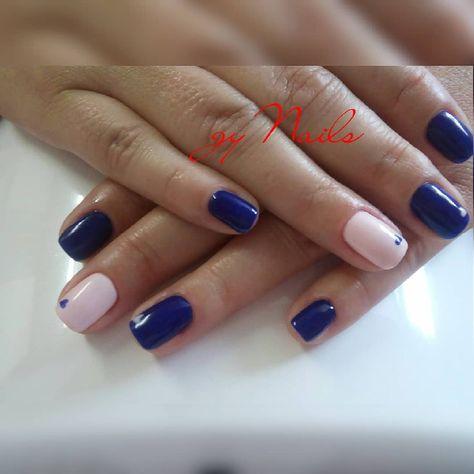 nails Esmaltado permanente #azul...